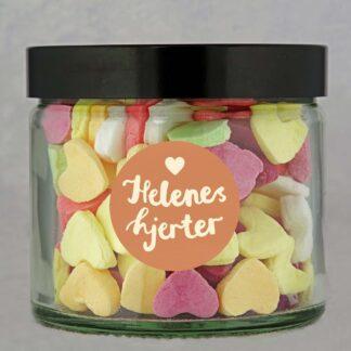 Hjerter i glasskrukke